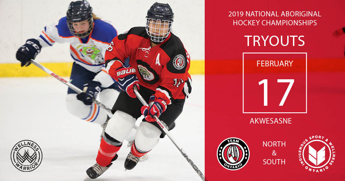 Tryouts for Team Ontario will continue on Sunday, February 17, 2019, at the  A`nowara`ko:wa Arena in Akwesasne, ON. These tryouts are for male and  female ...